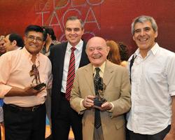Peteco Carabajal, junto a Gustavo Ick, Froilán González y Vitillo Aábalos
